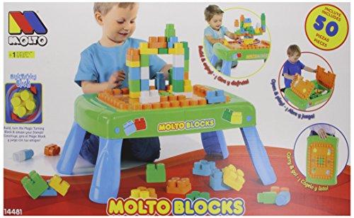 Molto - Mesa de construcción 50 bloques