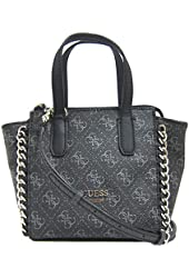 GUESS Confidential Logo Chain Mini Tote Bag, Coal