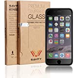 iPhone 6 Tempered Glass Screen Protector - Ultra Thin Lightweight Rounded Edge Hardness up to 9H - Screen Protectors Retail Packed with Cleaning Cloth