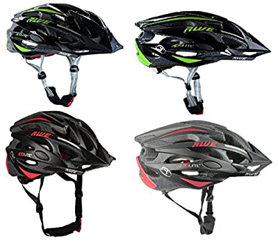 AWE AeroLite Men's Bicycle Helmet - Black/Red, Black/Green, Size 56-58/58-61cm by AWE®