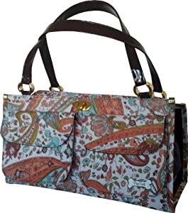 PuchiBag Gabster Paisley Travel Pet Carrier, Orange