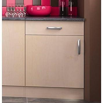 Paprika meuble de cuisine bas 60 cm 1 porte for Meuble a porte roulante