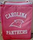 NFL Officially Licensed Carolina Panthers Pink Zippered Jersey Gameday Pouch Purse Bag Tote at Amazon.com