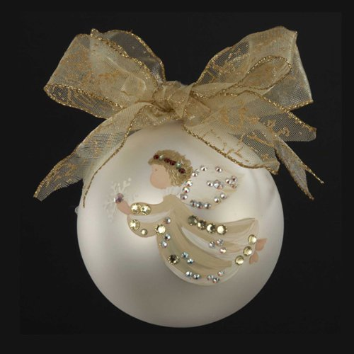 Check out sarabella hand painted angel with snowflake