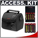Deluxe Accessory Kit with Precision Design Padded Carrying Case + Charger with 8 AA Rechargeable Batteries for Kodak EasyShare Z712 IS, Z812 IS, Z885, Z915, Z980 & Z1285 Digital Cameras