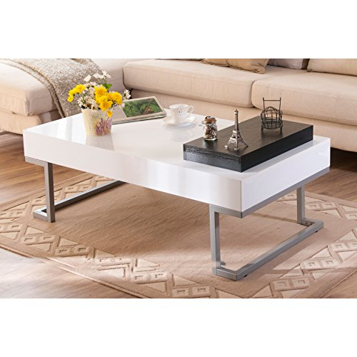 White Coffee Table Tray: Metro Shop Furniture Of America Cassie Coffee Table In