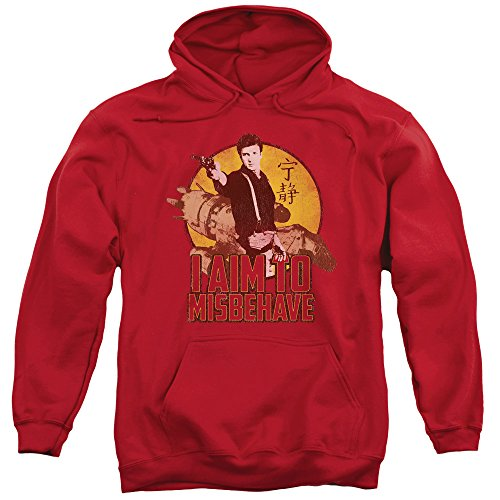 Firefly I Aim To Misbehave Mens Pullover Hoodie Red Xl (Serenity Movie Merchandise compare prices)