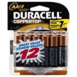Duracell Coppertop Alkaline Batteries, AA, 12 batteries
