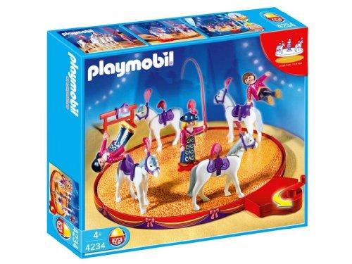 Jouet : Playmobil - 4234 - Voltigeurs Et Chevaux Et Manège