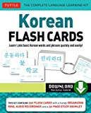 Korean Flash Cards: Learn 1,000 Basic Korean Words and Phrases Quickly and Easily! (Hangul & Romanized Forms) (Downloadable Audio Included)
