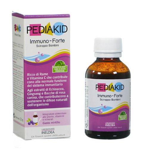 PediaKid Immuno-Forte sciroppo bambini gusto mirtillo