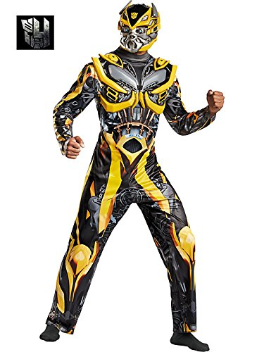 Disguise Men's Hasbro Transformers Age Of Extinction Bumblebee Deluxe Costume