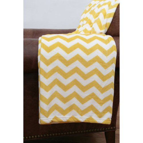 Gold Throw Blanket front-1060847