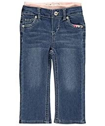 Levi\'s Baby Girls\' Brandi Skinny Jean, Iced Blue, 12 Months