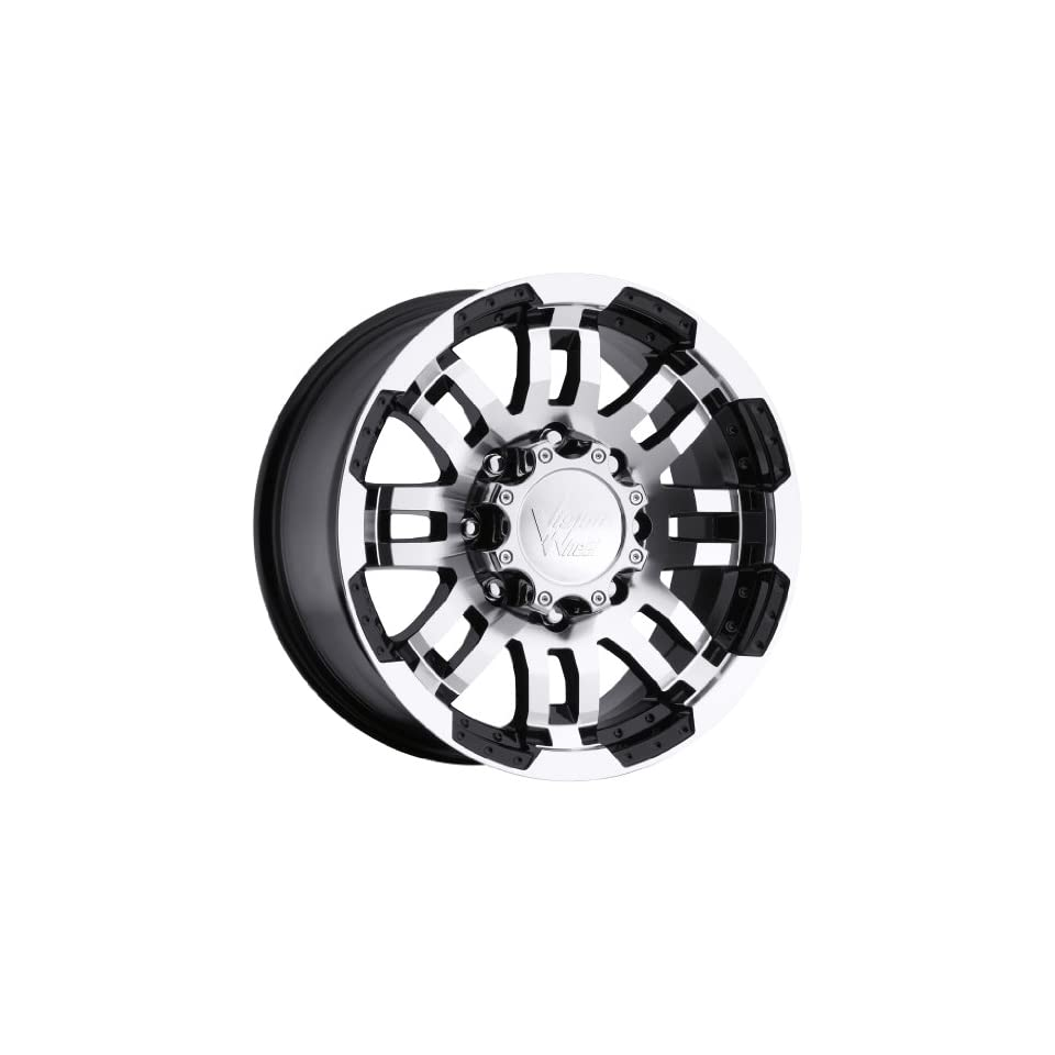 Vision Warrior 17 Black Wheel / Rim 5x5 with a 25mm Offset and a 78.1 Hub Bore. Partnumber 375H7873GBMF25