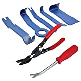7pcs Car Door Trim Clip Removal Pliers + Upholstery Panel Body Moulding Removing Tools