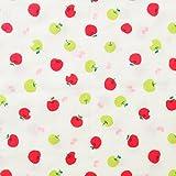 青りんご 赤りんご ダブルガーゼ 生地 綿100% 国産 50cm単位販売