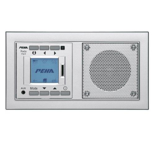 PEHA MP3 Unterputz-Radio AudioPoint im Nova-Design mit Funksender  Rahmen Alu