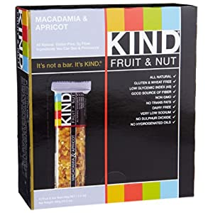 KIND Fruit + Nut Gluten Free Bars (Pack of 12)