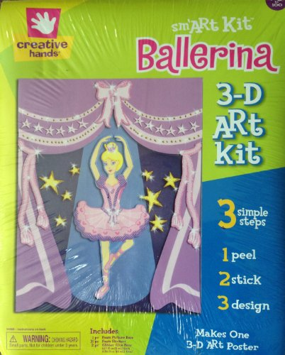 "Sm'Art Kit DANCING BALLERINA 3D Foam Art Poster Kit (11"" x 14"") 34 Pieces"
