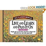 Live and Learn and Pass it on: v. 2 (8173030707) by Brown, H.Jackson