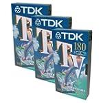TDK TV E180 3 Hours VHS Video Tape E-...