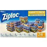 【Ziploc】ジップロック コンテナー 8種類 24個入り