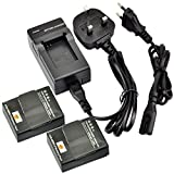 DSTE® 2pcs AHDBT-302 Rechargeable Li-ion Battery + Charger DC137U for Gopro AHDBT-302, AHDBT-301, AHDBT-201 and Gopro HD Hero3+, Hero3 Digital Cameras