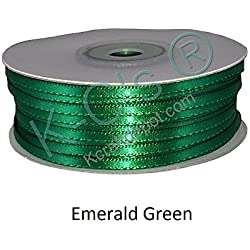 "1/8""(3mm) Double Faced Satin Ribbon 100 Yards - Emerald Green"