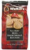 Walkers Mini Shortbread Rounds, 4.4-Ounce Bags (Pack of 6)