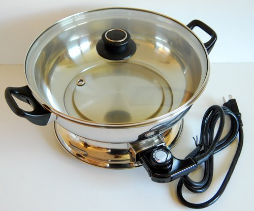 28Cm Stainless Steel Electric Steamboat Pot