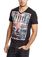 PAUL STRAGAS Camiseta Manga Corta (Negro)