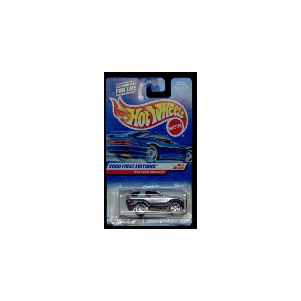 Mattel Hot Wheels 2000 First Edition  1999 ISUZU VehiCROSS Blk./Silver 164 Scale Die Cast Car #16 OF 36 #076