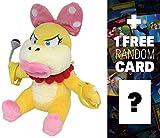 "Wendy Koopa: ~7"" Super Mario Bros Mini-Plush + 1 FREE Official Super Mario Bros Fun Card Bundle"