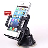 Universal Mobile SmartPhone Windscreen / Dash Mount Cradle Holder, fits all mobile phones Smartphones and Sat Nav's, including Apple iPhone 3G 3GS 4 4S and 5 / iPod Touch 2G, 3G, 4G , iphone 4S iPhone 5 HTC Sensation XE XL, HTC 8X 8S, HTC One V and One X