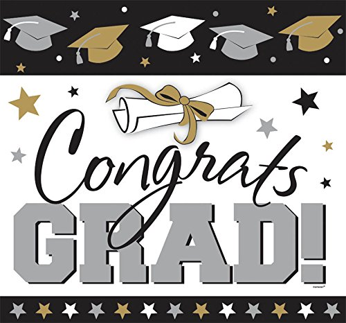 Golden Grad Glitter Cutout
