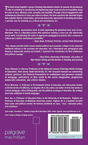 Revolutionizing Pedagogy: Education for Social Justice Within and Beyond Global Neo-Liberalism (Marxism and Education)