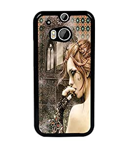 PrintDhaba Crying Girl D-3082 Back Case Cover for HTC ONE M8s (Multi-Coloured)