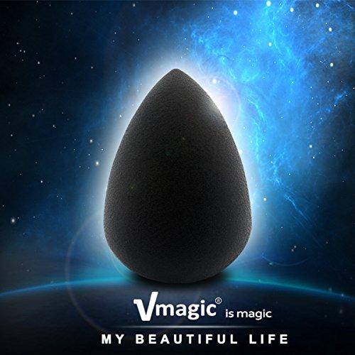VMAGIC Premium Pro Makeup Sponges Beauty Sponge Blender for Flawless, Applicator, Highlight and Foundation (BLACK)