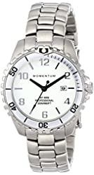 New St. Moritz Momentum M1 Mini Women's Dive Watch & Underwater Timer with Silver Bezel & Stainless Steel Band