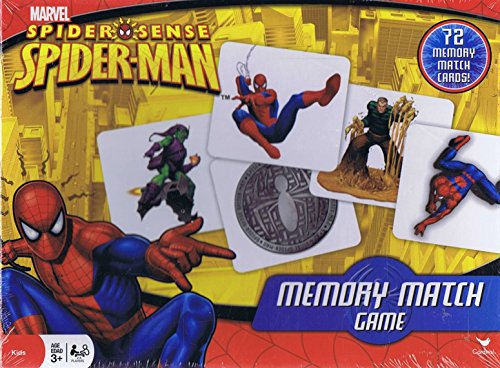 Spider-Man Memory Match Came - 72 Memory Match Cards