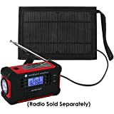 Ambient Weather WR-SOLAR-BAG Solar Panel and Carrying Bag for Hand Crank Emergency Weather Radios