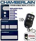 CHAMBERLAIN 84335EML, 84335E, 84333EML, 84333E, 84330EML, 84330E compatible émetteur de remplacement de la télécommande,433.92Mhz rolling code , clone