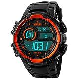 Picture Of Panegy Outdoor Waterproof Boys Girls Cool Sport Digital Alarm Stopwatch Chronograph Wrist Watch Gift Display – Orange