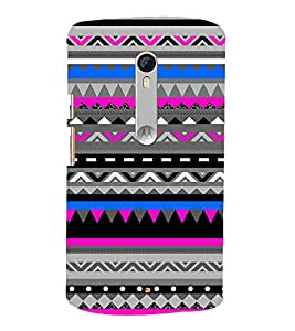 Abstract Zig Zag Pattern 3D Hard Polycarbonate Designer Back Case Cover for Moto G Turbo Edition