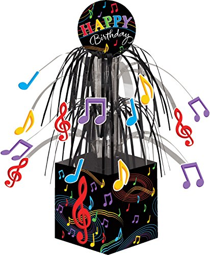 Creative Converting Dancing Music Notes Centerpiece with Mini Foil Cascade and Printed Base, Multicolor - 1