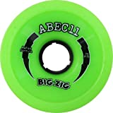 Retro BigZigs 75mm 80a Lime Longboard Wheels (Set of 4)
