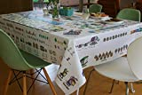 "Childrens Tablecloth, Mostly Math, Pre-K and Kindergarten level - 72"" x 52"""