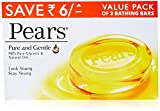 #6: Pears Pure & Gentle Soap Bar, 3 x 125gm