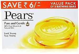 Pears Pure & Gentle Soap Bar, 3 x 125gm